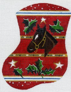 Horse & Holly Mini Stocking