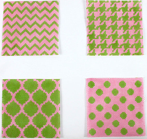 Mixed Geometric Patterns Coaster Inserts