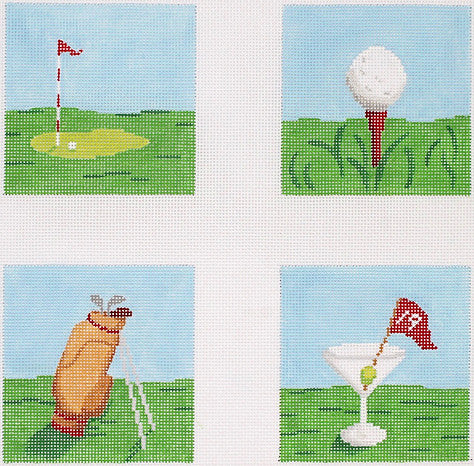 Golf Theme Coaster Inserts