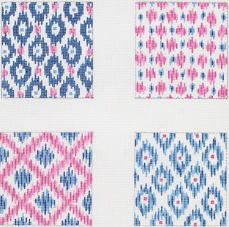 Ikat Pattern Coasters