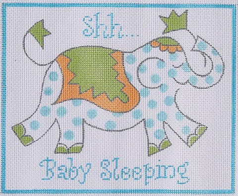 Baby Sleeping Elephant in Blue
