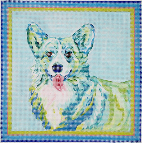 Welsh Corgi Blue/Green