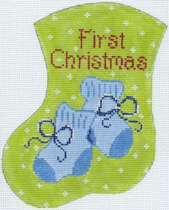 First Christmas Blue Booties