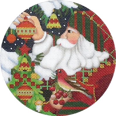 Red Bird Santa Ornament