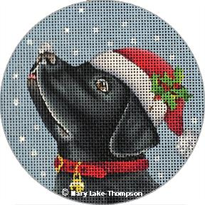 Santa Lab Ornament