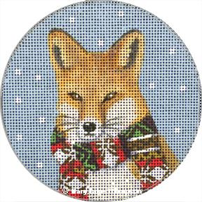 Fox w/Scarf Ornament