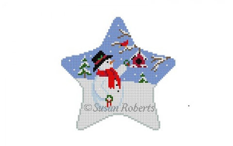 Star Snowman with Wreath