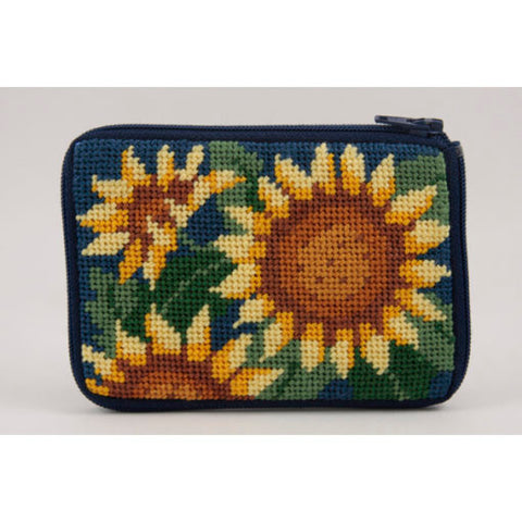 Sunflower Stitch and Zip Coin Purse