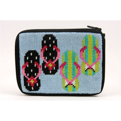 Flip Flop Stitch and Zip Coin Purse