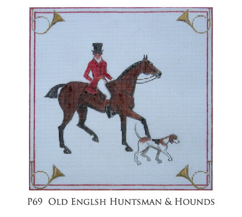 Old English Huntsman Pillow