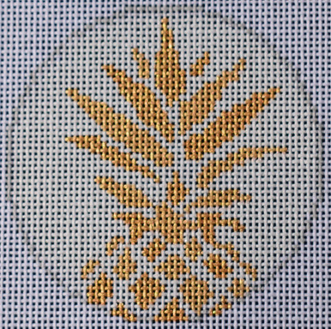 Pineapple Stencil-White