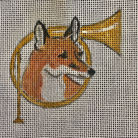 "Fox in Horn 4"" Square"
