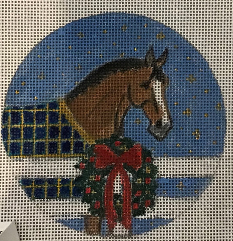 Bay Horse w/Blanket and Wreath