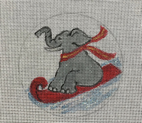 Elephant on a Sled