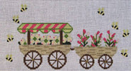 Flower Cart Pillow