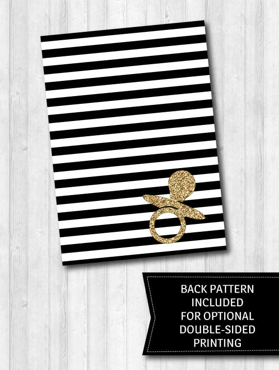 games baby shower game activity pack black and white stripes gold glitter