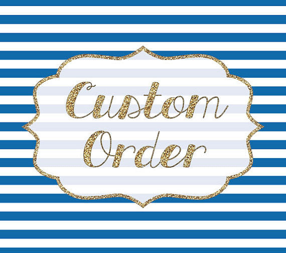 Custom Order Reserved for Morgan