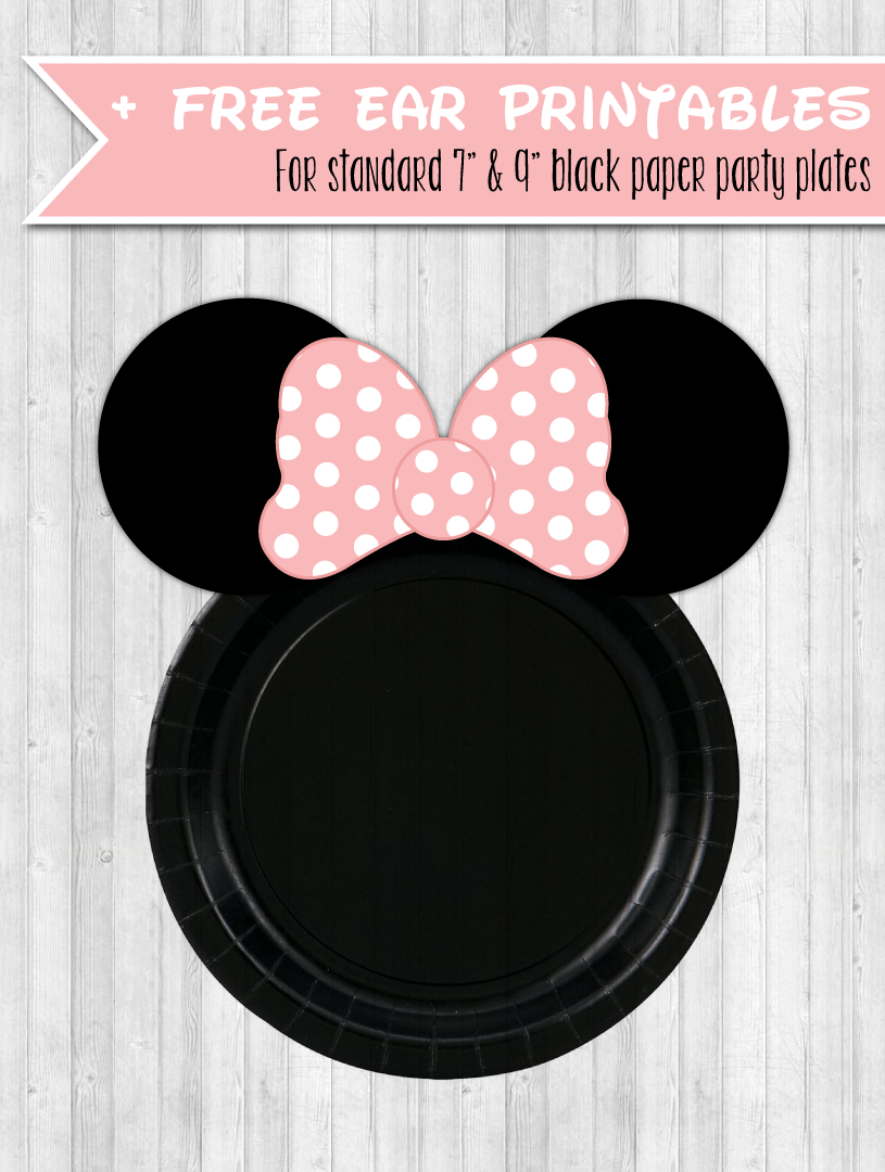 Plate Printables Ears Minnie Mouse