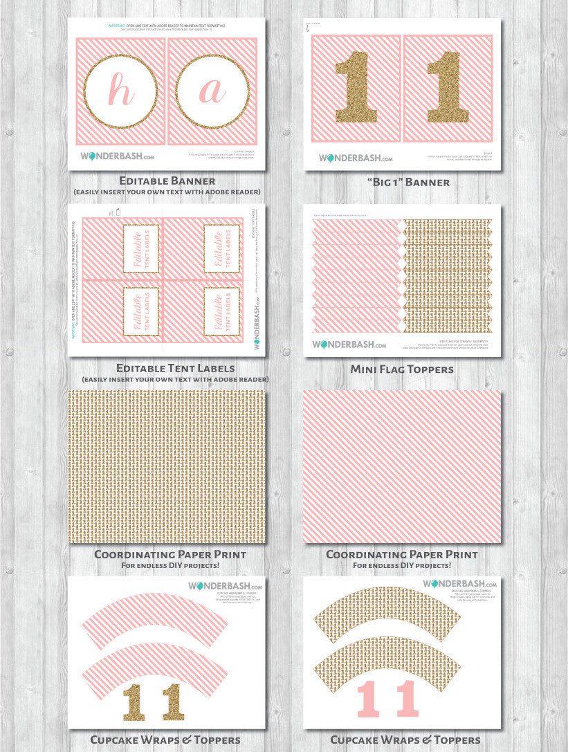 First birthday party decor pack - what's included 2