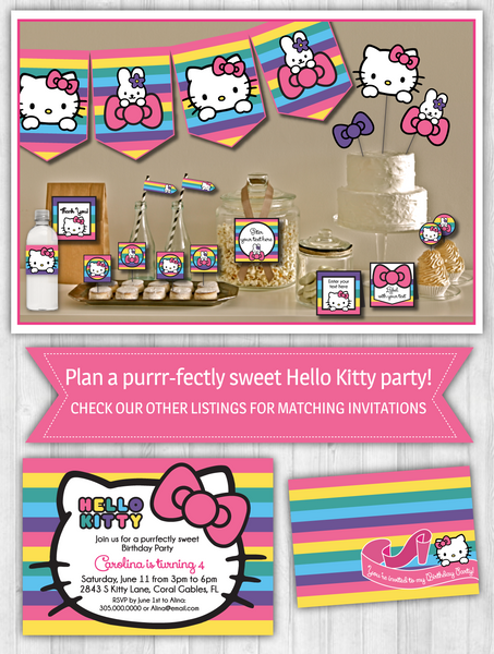 Hello Kitty Party Decor Pack - Rainbow