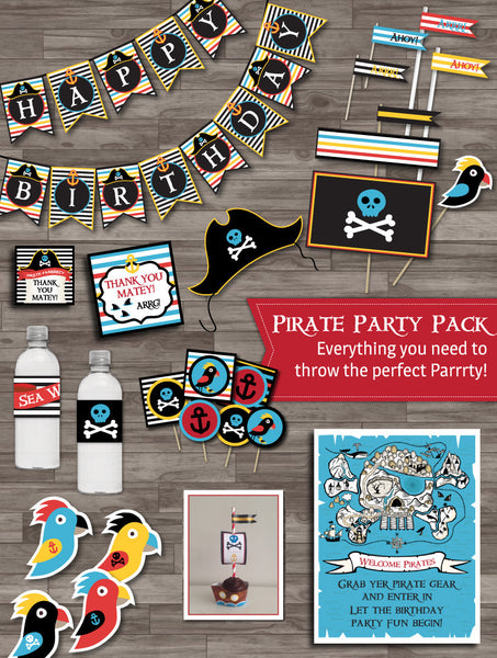 Pirate Party Decor Super Pack