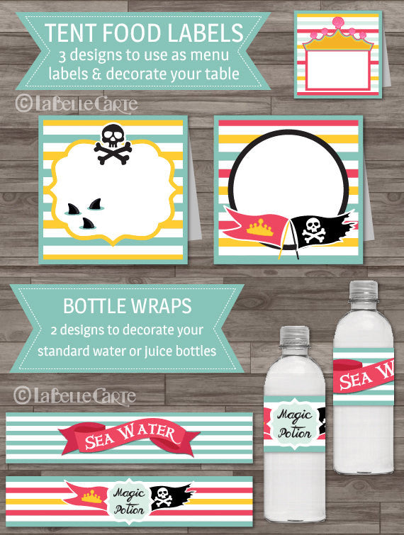 Princess & Pirate Gender Neutral Birthday Party Pack