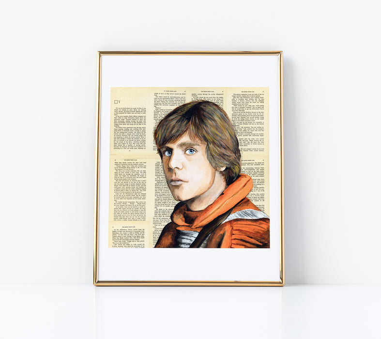"11"" x 14"" Paper Print of Luke Skywalker"