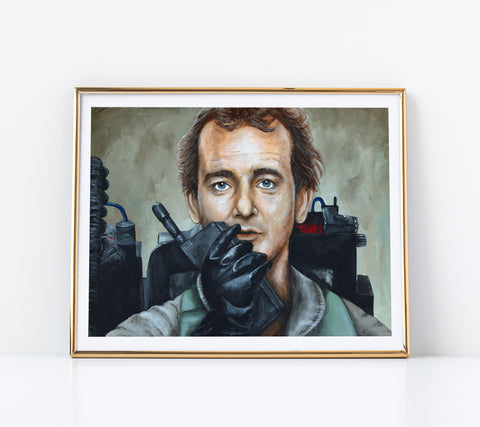 Paper Print of Bill Murray as Dr. Peter Venkman from Ghostbusters