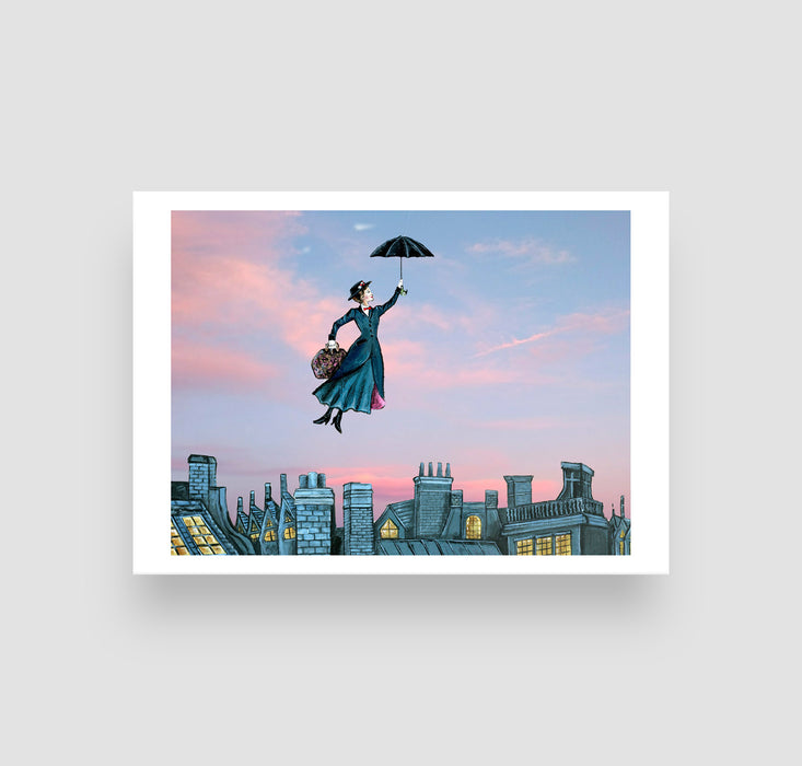 "5"" x 7"" Mary Poppins Paper Print"