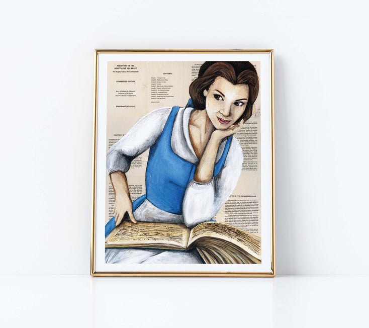 "5"" x 7"" Belle from Beauty and the Beast Paper Print"
