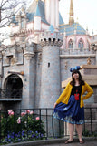 "Dreams Come True - Disney ""Midi Knee length"" Skirt with Cinderellas Castle and Tinkerbell"