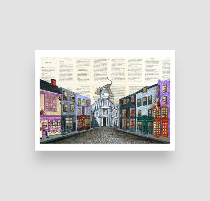"5"" x 7"" Diagon Alley from Harry Potter"