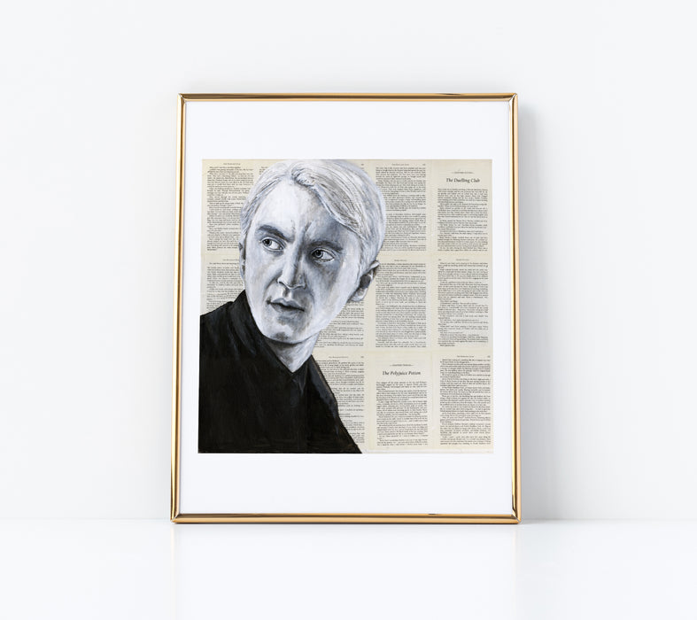 "11"" x 14"" Paper Print of Draco Malfoy from Harry Potter"