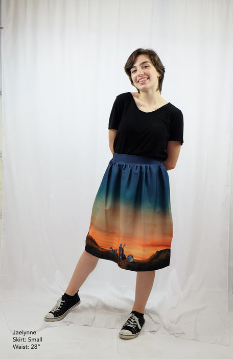 The Mandalorian and Baby Yoda Skirt with Pockets