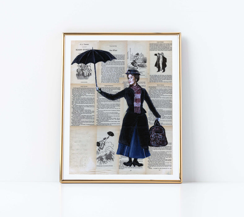 "11"" x 14"" Paper Print of Mary Poppins"