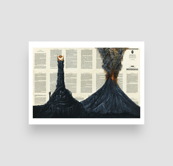 "5"" x 7"" Mordor from Lord of the Rings Paper Print"