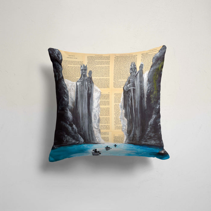 Pillow Case of Argonath from Lord of the Rings