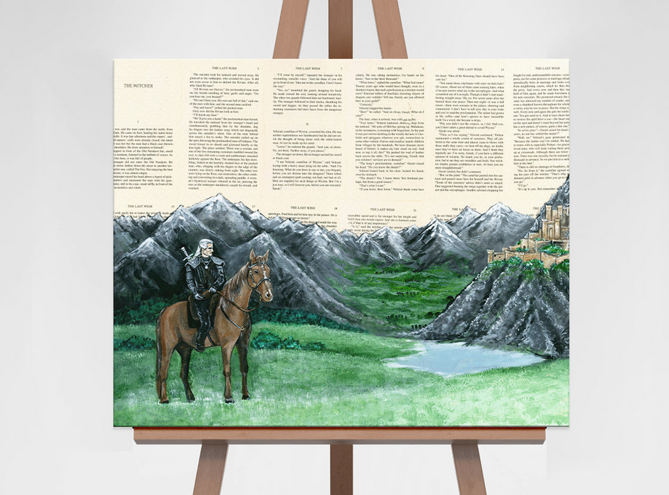Canvas Print of The Witcher at Kaer Morhen