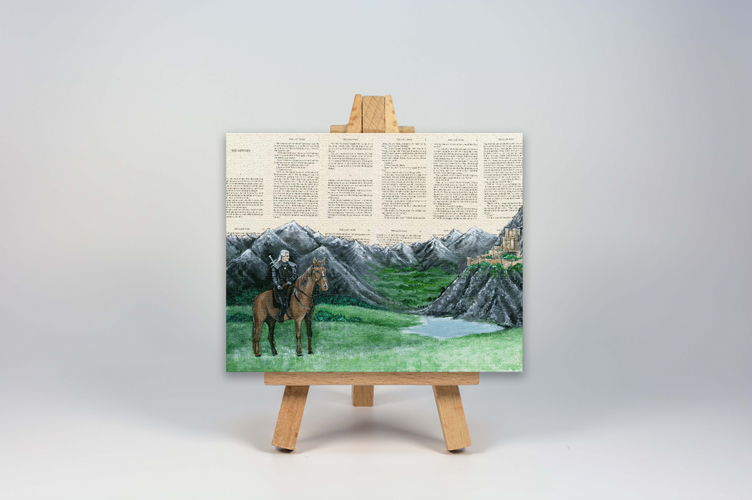Mini Canvas Print of The Witcher at Kaer Morhen