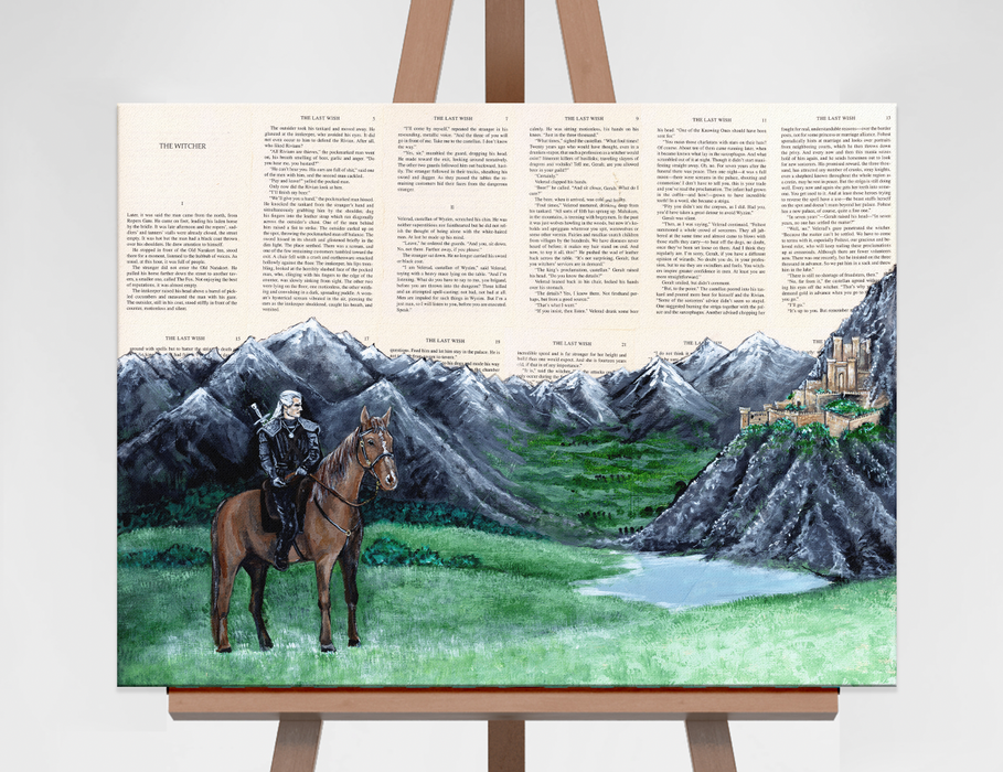 Original Painting of The Witcher at Kaer Morhen