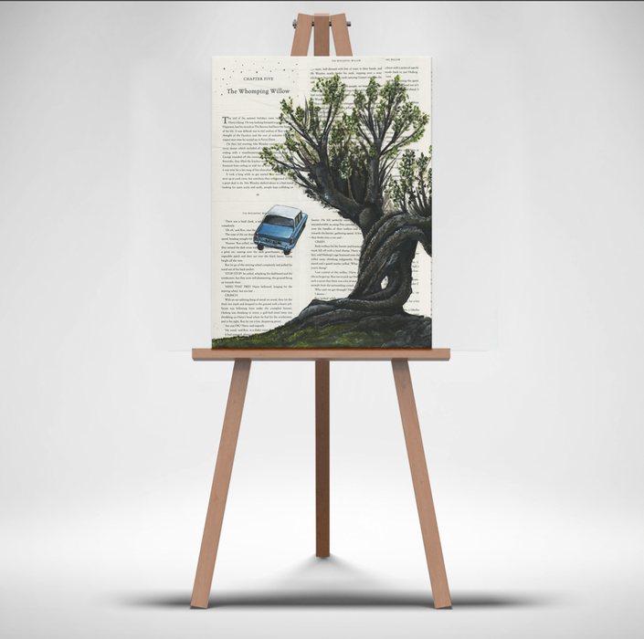 Canvas Print of The Whomping Willow from Harry Potter