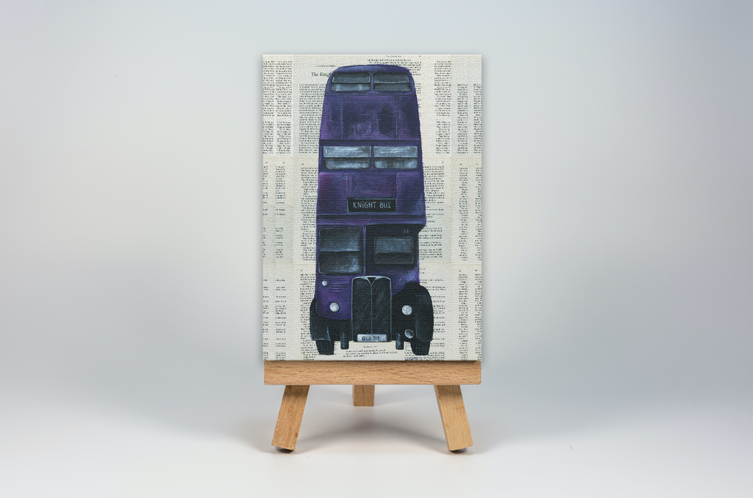 Mini Canvas Print of the Knight Bus from Harry Potter