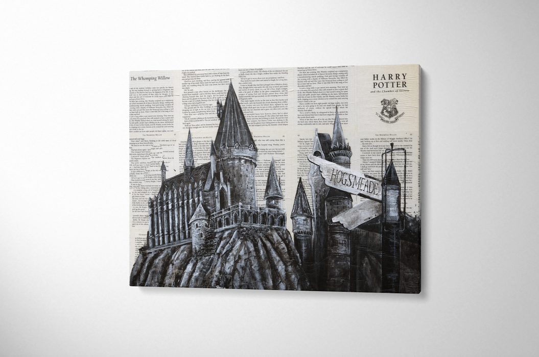 Canvas Print of Hogwarts School of Witchcraft and Wizardry from Harry Potter