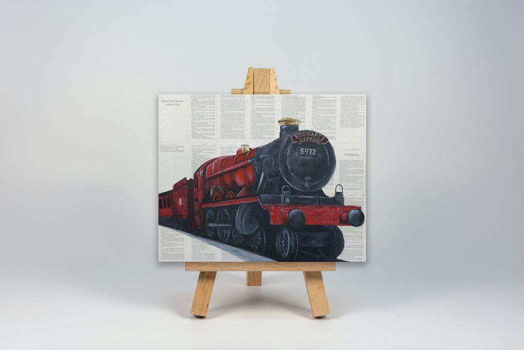 Mini Canvas Print of The Hogwarts Express