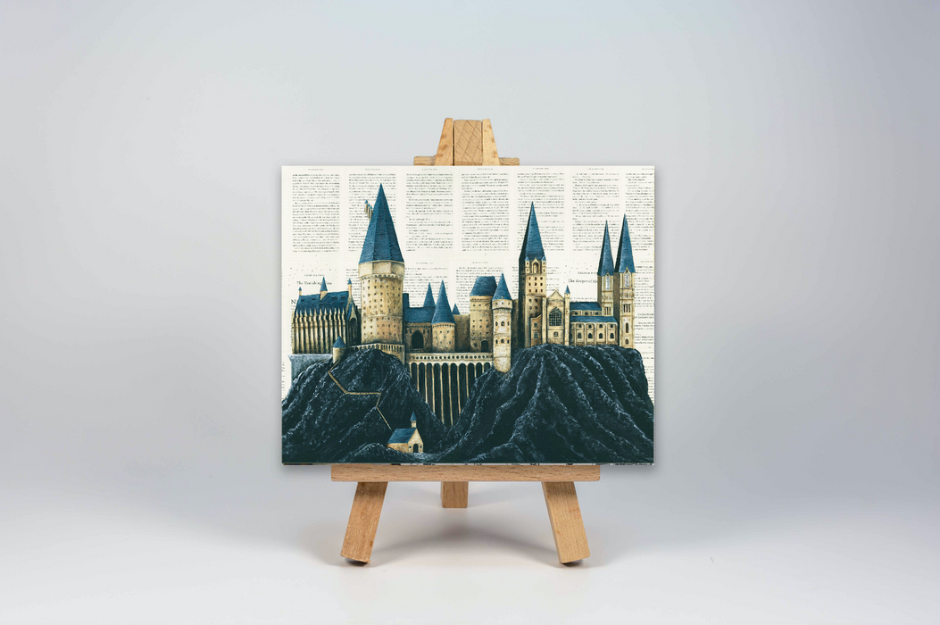 Mini Canvas Print of Hogwarts from Harry Potter full colour