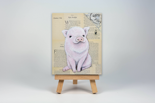 Mini Canvas Print of Wilbur from Charlotte's Web