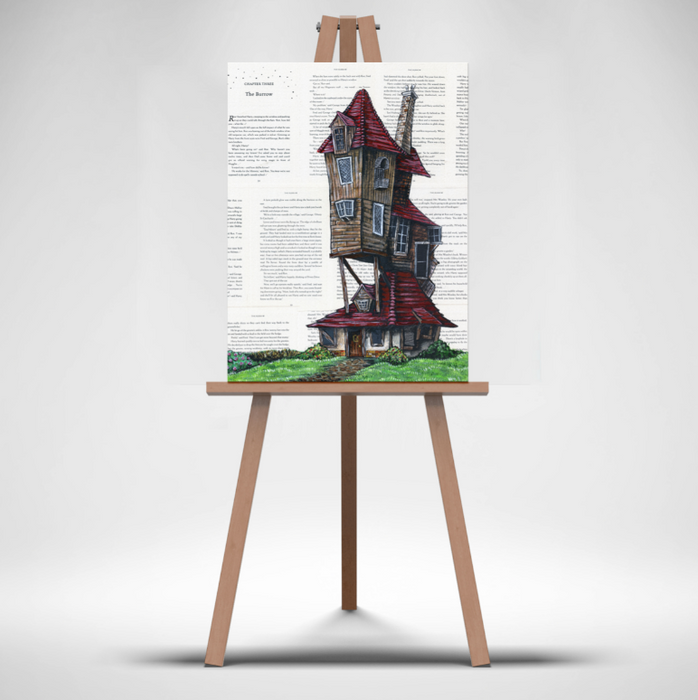 Canvas Print of The Burrow from Harry Potter