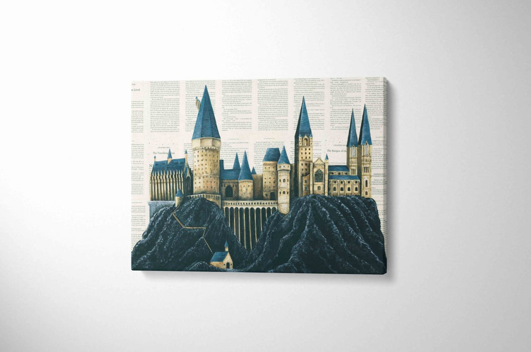 Canvas Print of Hogwarts School of Witchcraft and Wizardry Full Colour