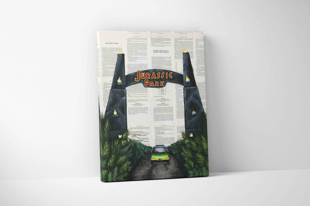 Canvas Print of The Jurassic Park Gate