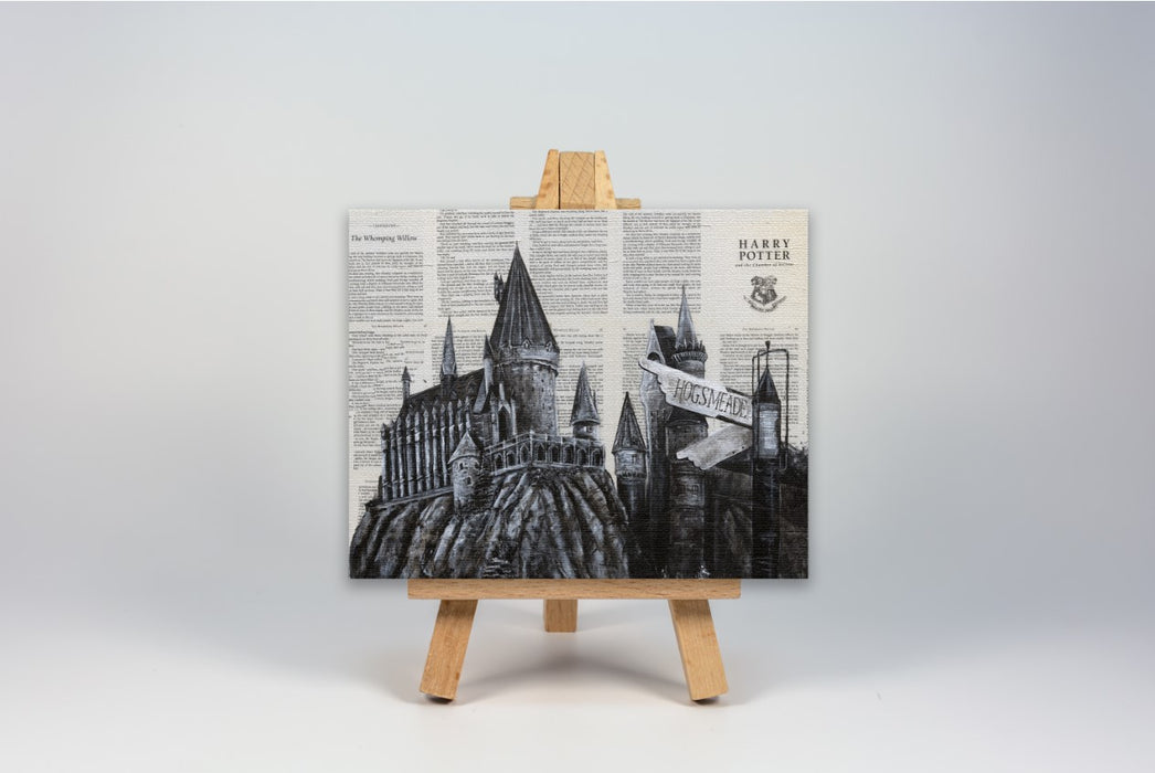 Mini Canvas Print of Hogwarts from Harry Potter